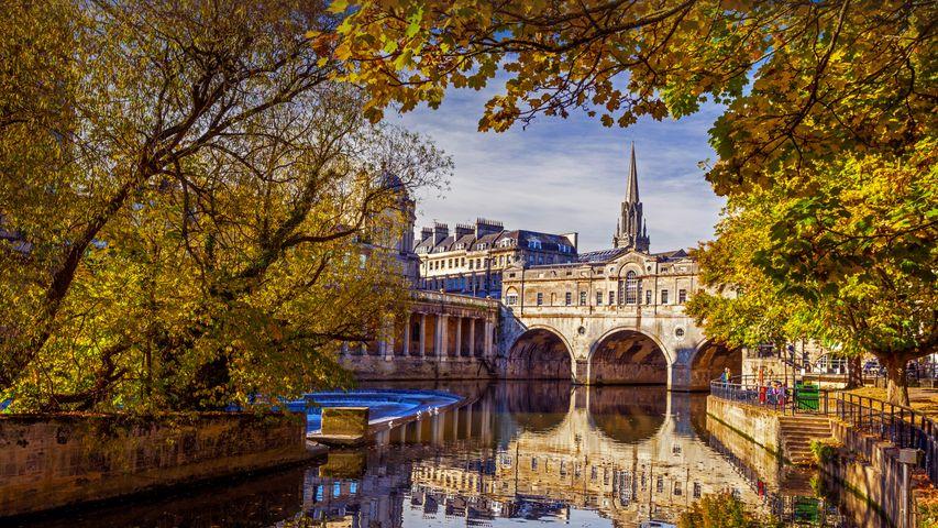L'Avon traversant la ville de Bath, Angleterre