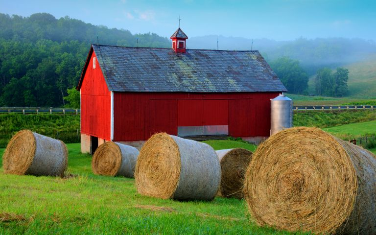grass outdoor object sky outdoor hay farm mountain field