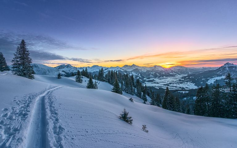 snow outdoor sky mountain nature skiing covered tree