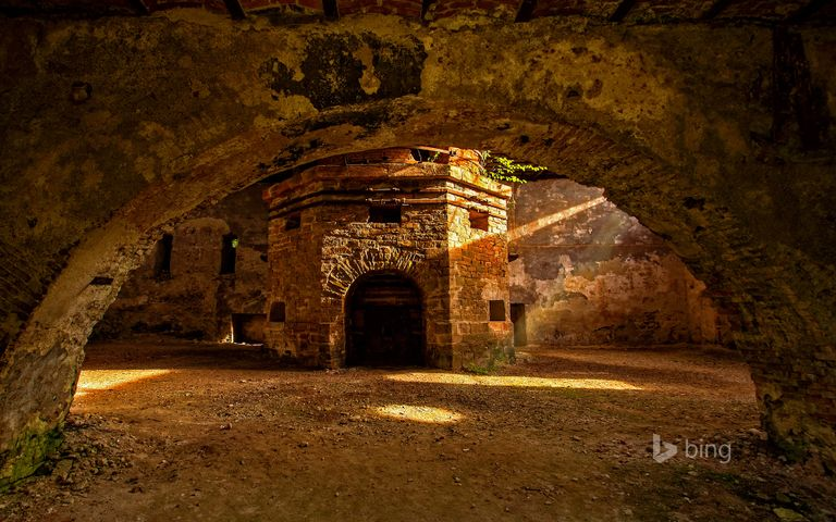 cave brick stone fire building fireplace ruins ruin
