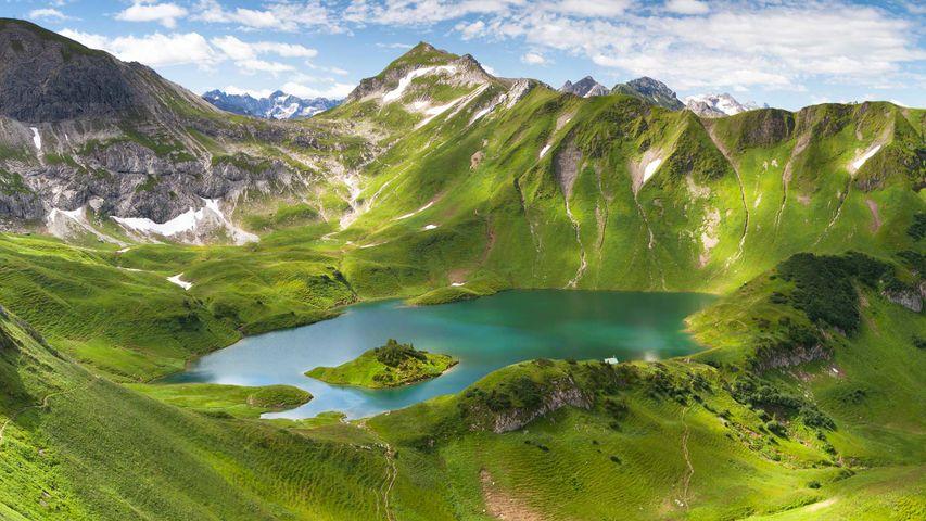 Der Schrecksee in den Allgäuer Alpen in Bayern