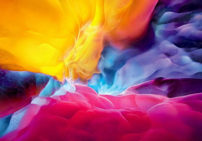abstract flower painting bright art blur