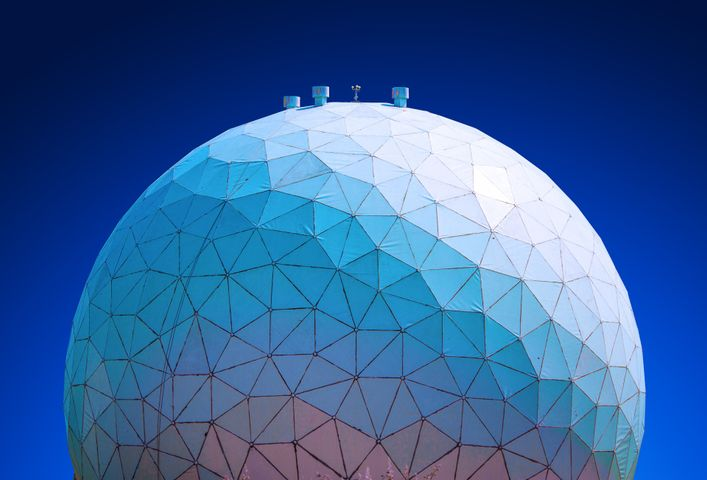 building dome sky blue blue sky geometry art ball