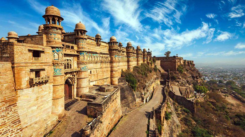 Gwalior Fort in Madhya Pradesh, India