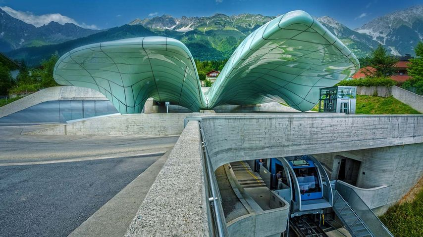 Hungerburgbahn funicular railway station, Innsbruck, Austria