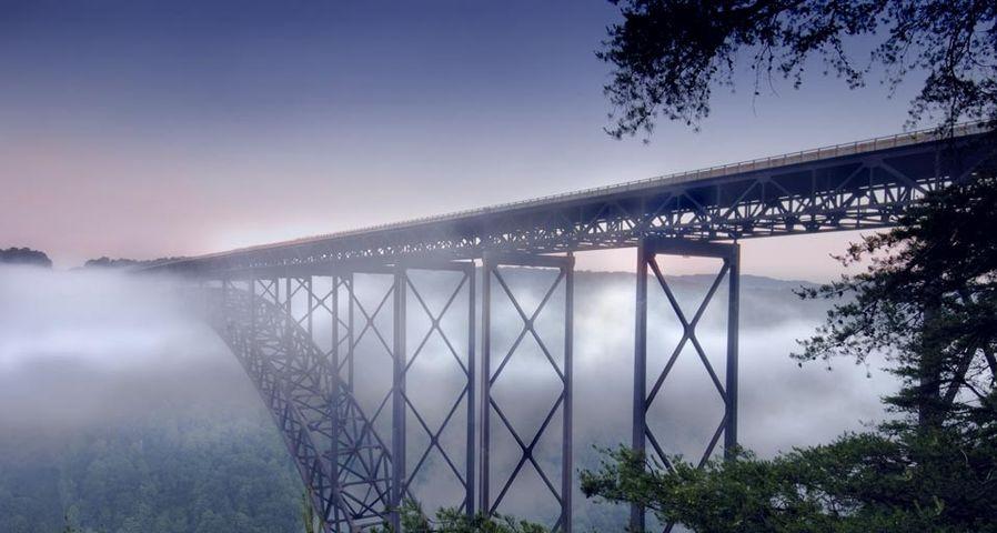 New River Gorge Bridge près de Fayetteville, Virginie-Occidentale, États-Unis