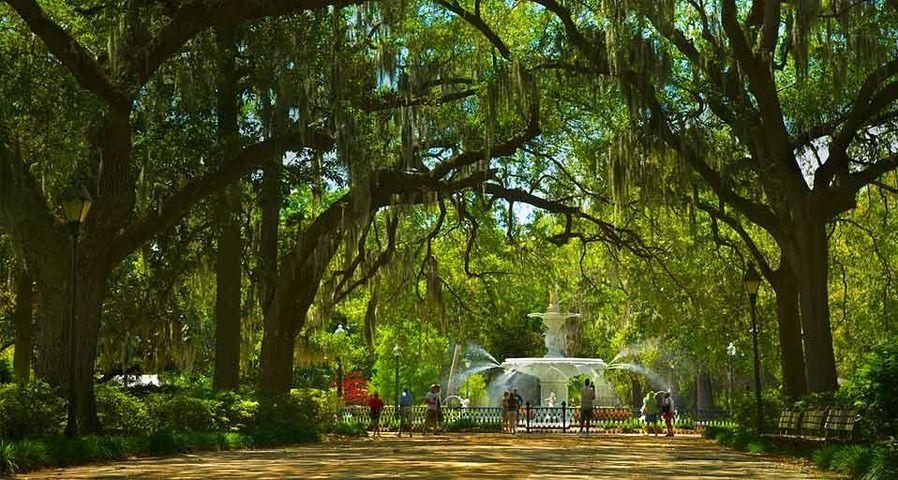 Forsyth Park Fountain in Savannah, Georgia, U.S.A.