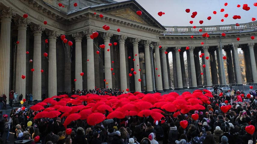 International Women's Day celebration in Saint Petersburg, Russia