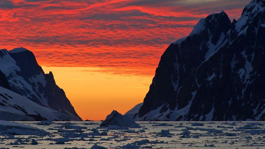 南极的日落