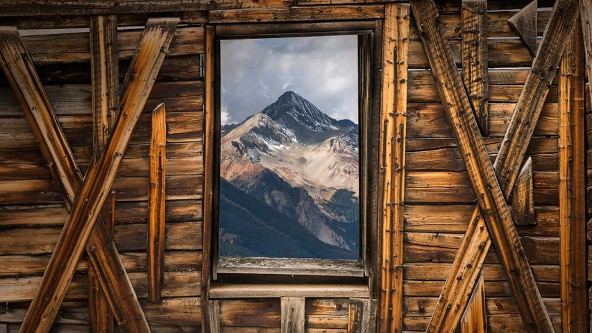 Wilson Peak seen from Alta, a ghost town in Colorado