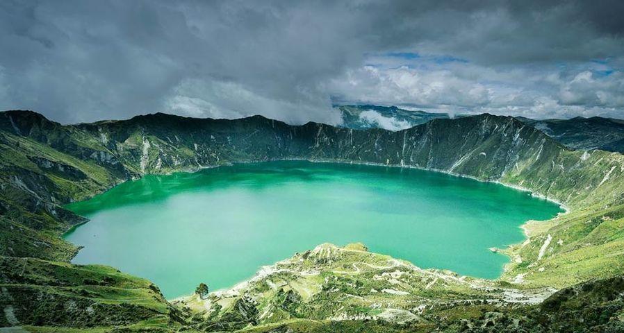 Laguna Quilotoa in the Andes Mountains, Ecuador