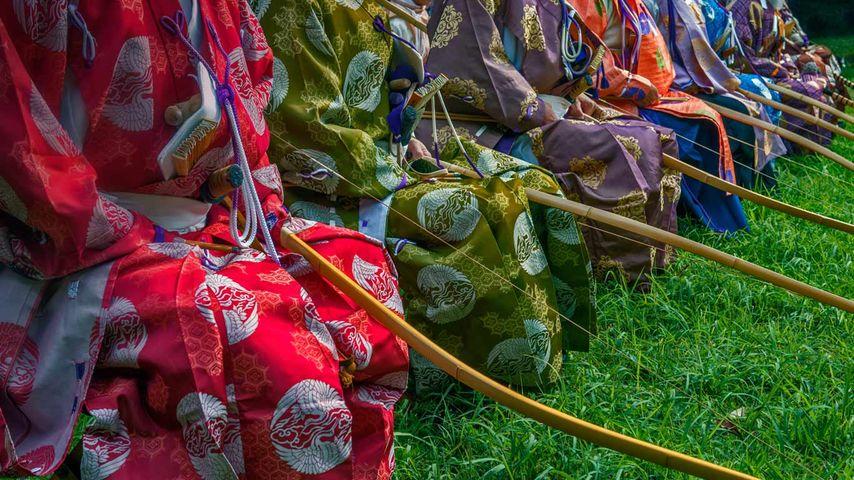 Archers at the Meiji Shrine, Tokyo, Japan