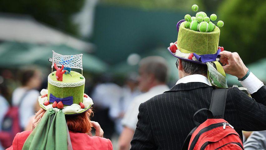 Spectators wearing hats at Wimbledon in 2017