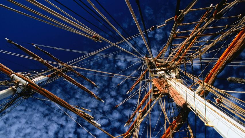 Tall ship Eye of the Wind in Tasmania, Australia