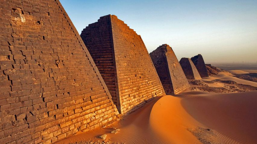 The Pyramids of Meroë in Sudan