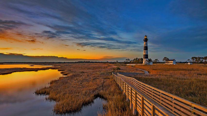 北卡罗来纳州外滩群岛上的鲍迪岛灯塔