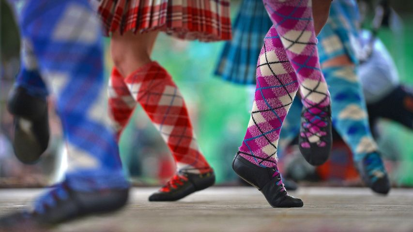 Dancers at the Braemar Gathering in Scotland. The festival begins today