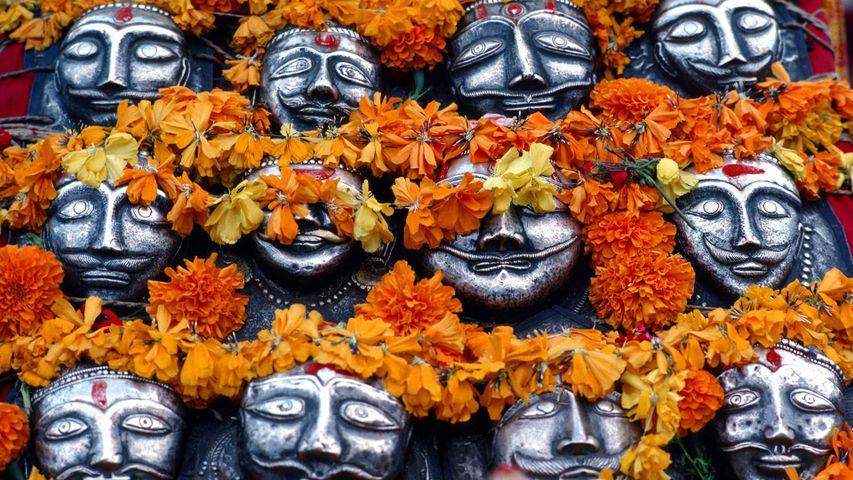 Masks for the Dussehra festival