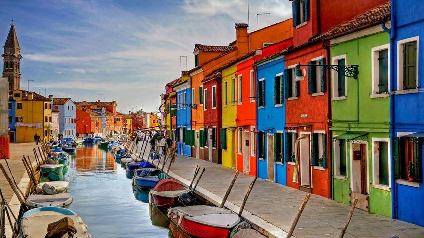 Burano dans la lagune de Venise, Italie