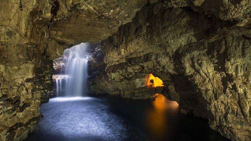 Smoo Cave in Durness, Scotland, United Kingdom