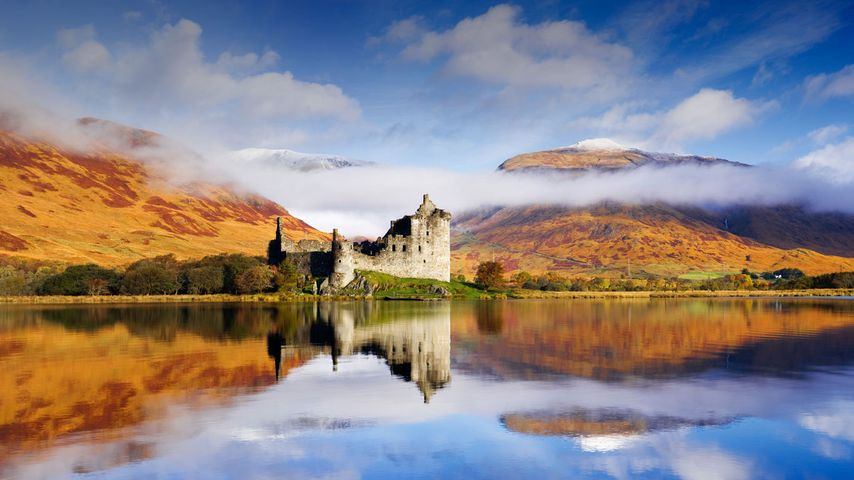 Kilchurn Castle on Loch Awe in Argyll and Bute, Scotland