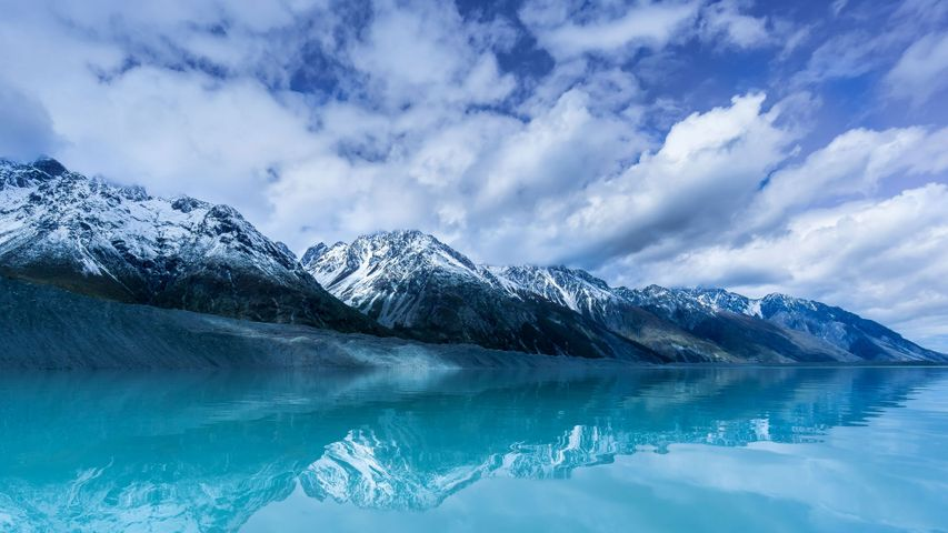 Tasman Lake on South Island, New Zealand