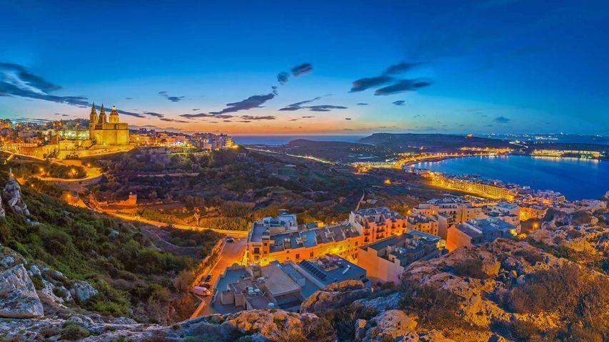 View of Mellieħa, Malta