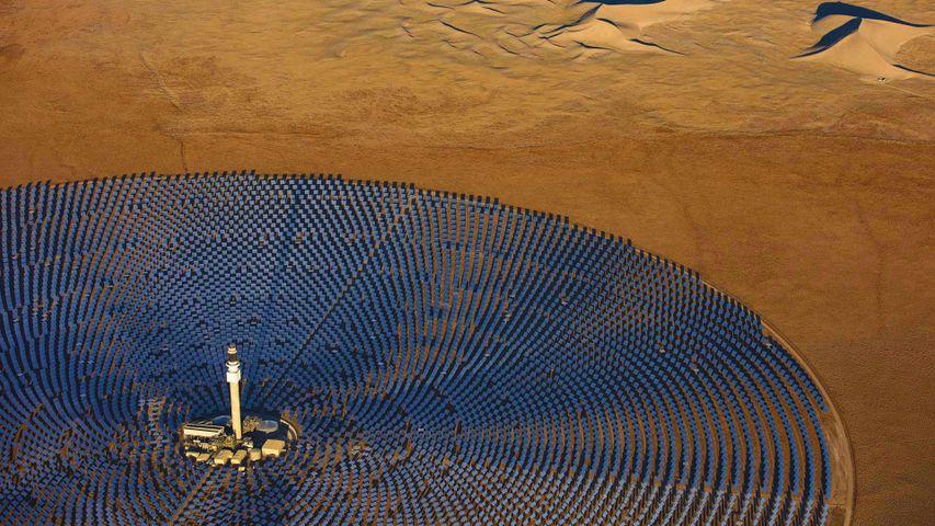 The Crescent Dunes Solar Energy Project near Tonopah, Nevada