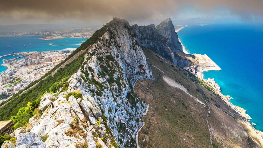 View of the Rock of Gibraltar