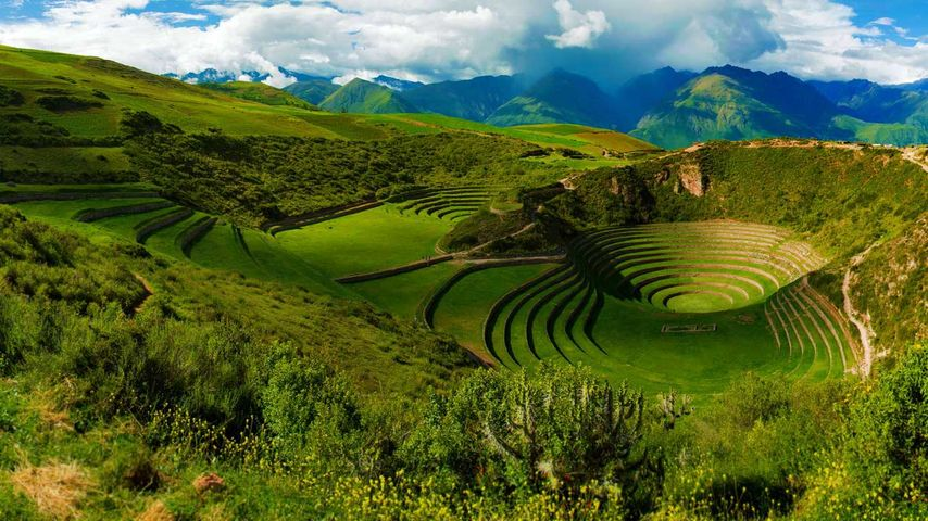 马拉什附近的莫雷印加遗址,秘鲁