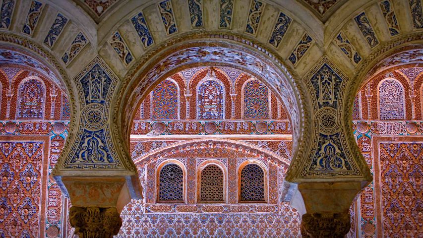 Ambassador's Hall in the Alcázar of Seville, Spain