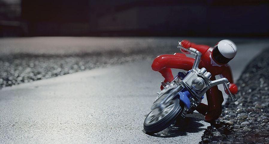 玩具摩托车特写