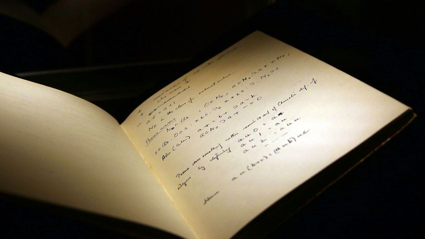 A page of Alan Turing's notebook to kick off Computer Science Education Week