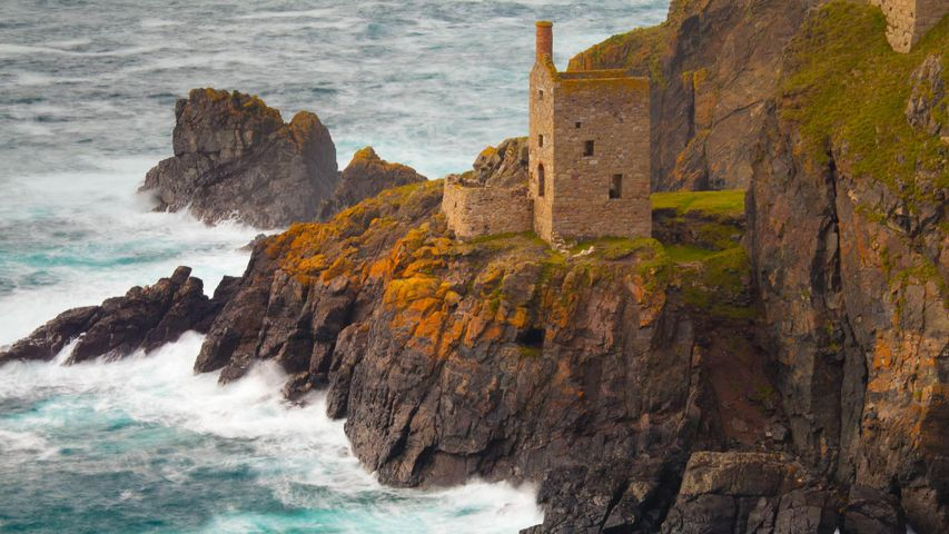 Botallack Mine in Cornwall, England