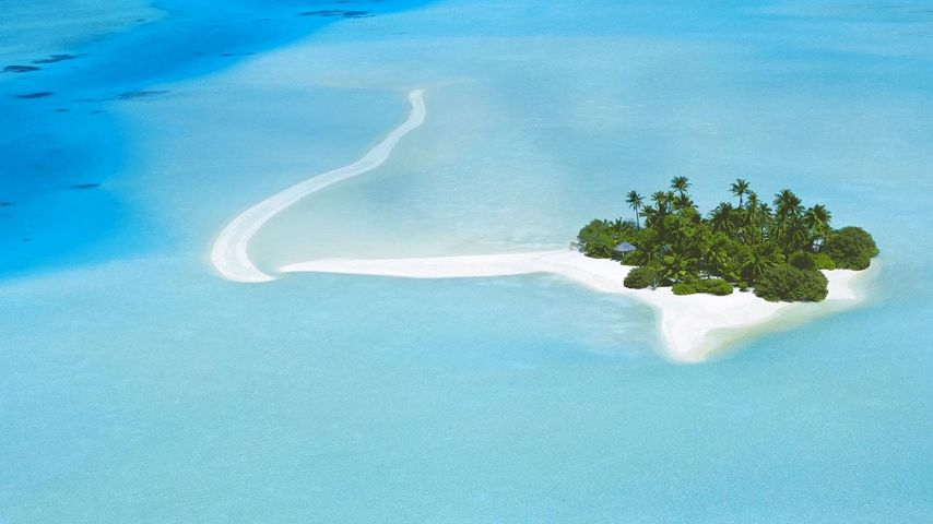 Aerial view of North Malé Atoll, Maldives