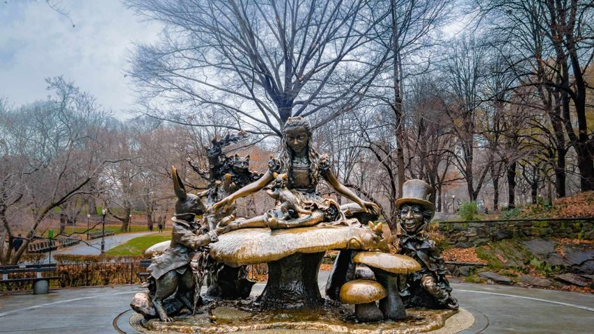 The Alice in Wonderland sculpture in Central Park, New York City