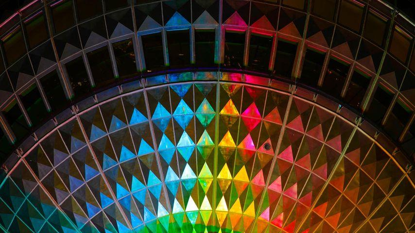 「ライトアップされたベルリンテレビ塔」ドイツ, ベルリン