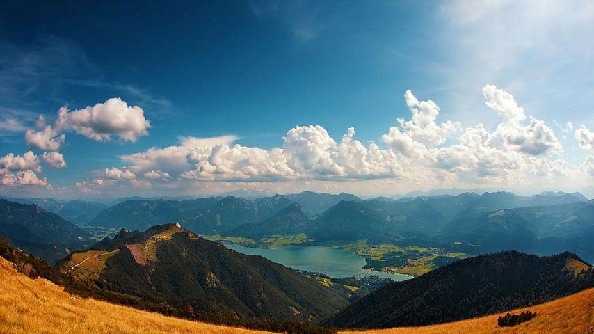 奥地利萨尔茨卡默古特湖区的圣沃夫冈湖
