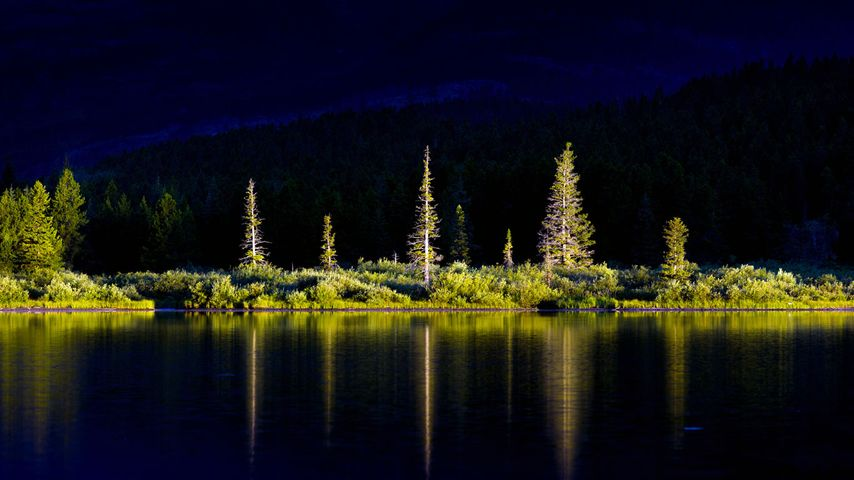 Swiftcurrent Lake in Glacier National Park, Montana