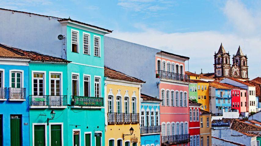 Bunte Häuserfassaden, Salvador Bahia, Brasilien