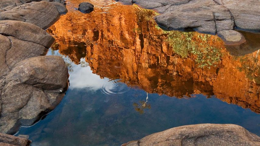 Reflection of Ormiston Gorge, Northern Territory