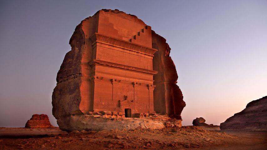 Mada'in Saleh archeological site in Saudi Arabia