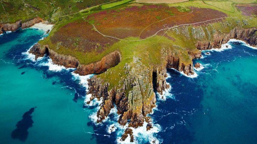 Cornwall coast in England