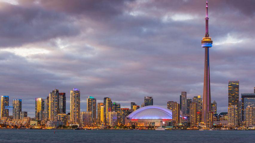 The Toronto skyline viewed from the Toronto Islands