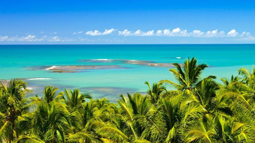 Praia do espelho près de Trancoso, Bahia, Brésil
