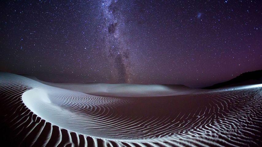 Milky Way over Sleaford Bay on the Eyre Peninsula, South Australia, Australia