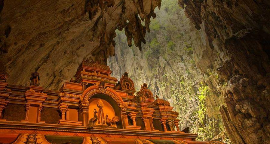 Hindu shrine inside the Batu Cave complex near Kuala Lumpur, Malaysia