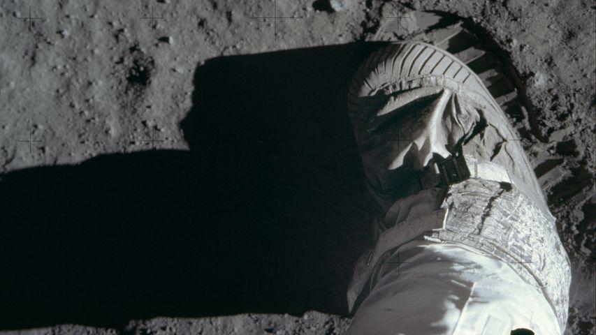 Buzz Aldrin's boot on lunar soil, Apollo 11 mission