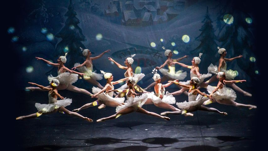 For the anniversary of the premiere of 'The Nutcracker,' a scene of the Moscow Ballet performing the popular dance
