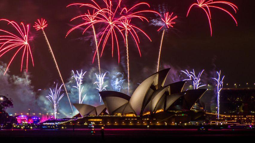 Sydney Opera House Australia Day celebration in 2018